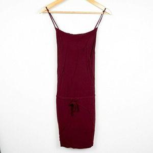 JAMES PERSE spaghetti strap drawstring tank dress